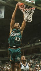 The Pistons wore teal in their uniforms from the 1996-97 season through 2000-01.