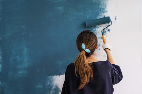 A single gallon of paint will cover around 350 square feet in one coat.