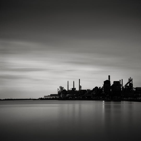 """As with """"Zug Island,"""" Gaydash loves capturing industry along Great Lakes shorelines, which he notes is an inescapable part of the lakes' history."""