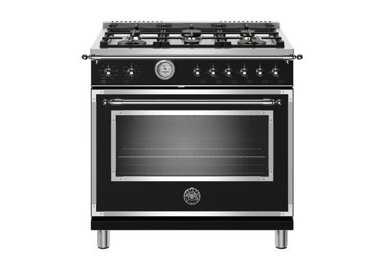 The 36-inch Bertazzoni Heritage Series range comes in a matte black.