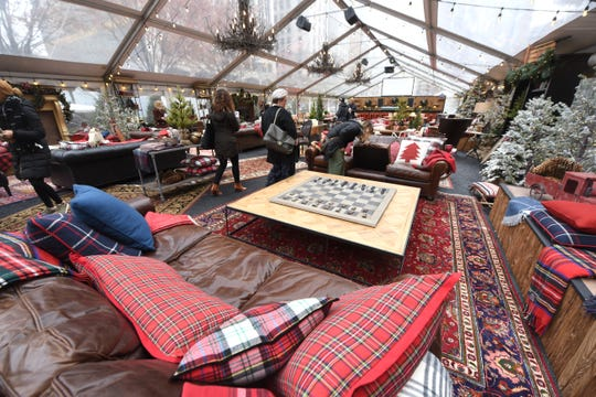Cadillac Lodge near Campus Martius is open until Jan. 26. It features cozy couches, games, blankets and more.