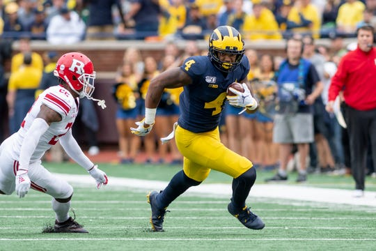 Michigan wide receiver Nico Collins has 33 catches for 681 yards and seven touchdowns this season.