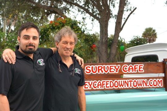 Owners of the Survey Café, Paul Crepin Leroux and Philippe Leroux specialize in French fare with a big helping of local cuisine.