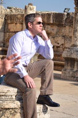 Montana Secretary of State Corey Stapleton at the Sea of Galilee on his recent trip to Israel.