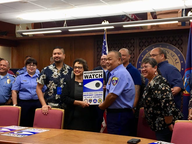The Offices of Guam Homeland Security and Civil Defense acquired 57 signs for Guam's Neighborhood Watch Program  The signs, displaying Guam Police Department contact information, will be placed at every village.