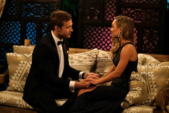 "Sarah Coffin and Peter Weber get to know each other on ""The Bachelor."""