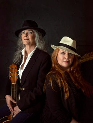 Reba Russell and Susan Marshall play the Halloran Centre on Friday.