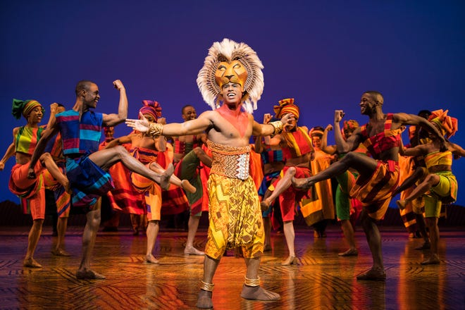 "Jared Dixon plays Simba in the North American touring company of ""The Lion King."""