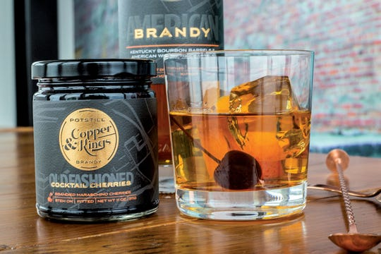 Copper and Kings American Brandy Co. in Louisville, Ky., produces not just brandy but also bitters and brandy-marinated cherries for old fashioned cocktails.