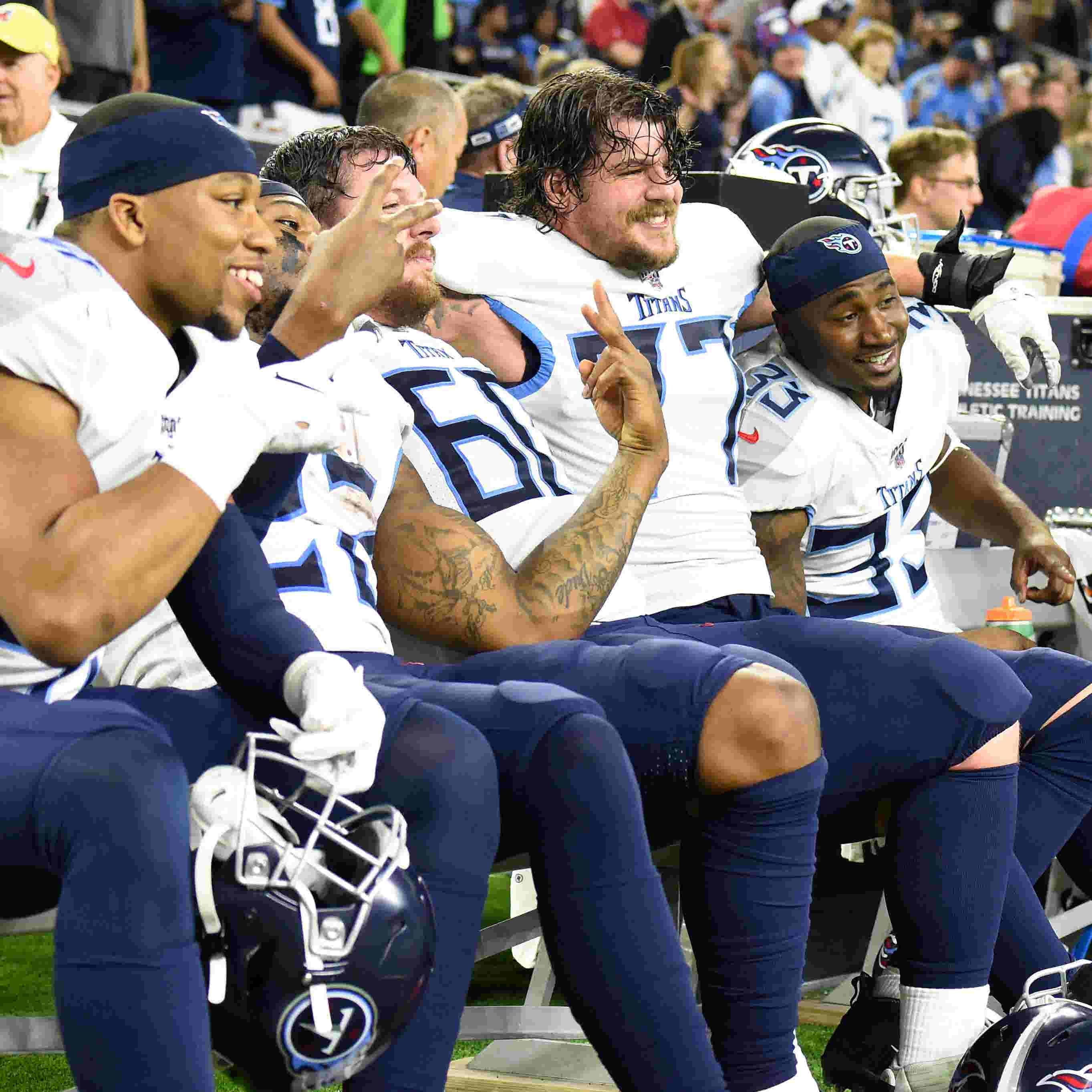 Watch: Titans players excited about playoff berth, trip to New England