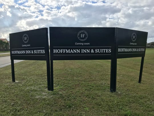 "A sign advertising ""Hoffman Inn & Suites"" located off Ben Hill Griffin Parkway near Hertz Arena on Dec. 26, 2019."