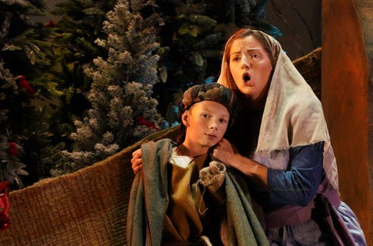 Amahl (Jake Milton) and his mother (Lauryn Kay)
