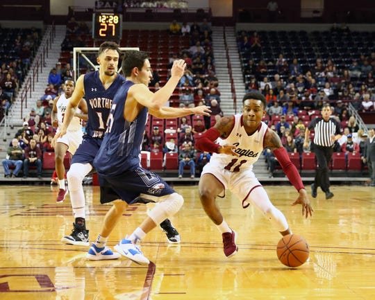The New Mexico State men's basketball team earned a 104-30 win over Northern New Mexico on Sunday, Dec. 29, at the Pan American Center.