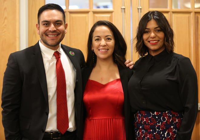 From left: Gabriel Vasquez, Tessa Abeyta Stuve, Johana Bencomo