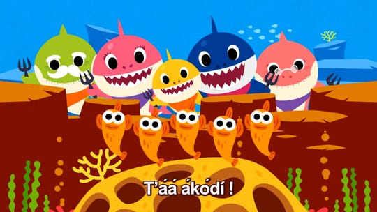 "Pinkfong has released the Navajo language version of its popular song, ""Baby Shark."""