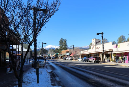 An amazing view of the snow-capped mountains can be seen from midtown Ruidoso. Local areas saw one to three inches on Dec. 28 while the mountains had 19 inches.