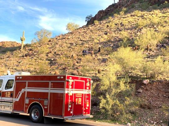 Phoenix fire rescues hiker from Piestewa Peak in Phoenix on Dec. 29, 2019.