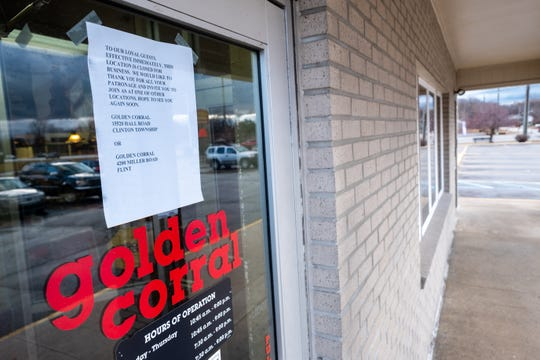 Golden Corral on 24th Avenue in Fort Gratiot closed its doors at the end of service Sunday night.