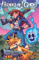 Cover art of one from a Franklin and Ghost comic. Comic story writer Garrett Gunn of Redding originated the characters and stories.