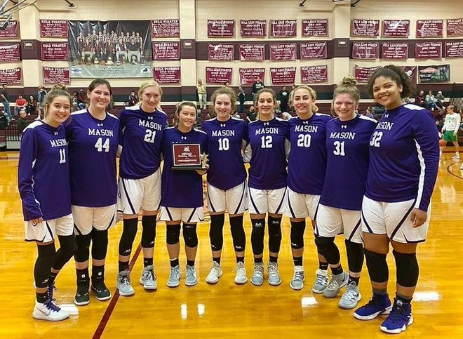 The Mason High School girls basketball team recently won the Eula Holiday Classic. The Cowgirls are 17-2 for the season and ranked No. 6 in Class 2A in the state. It was head coach Jeff Guice's 600th career game win.