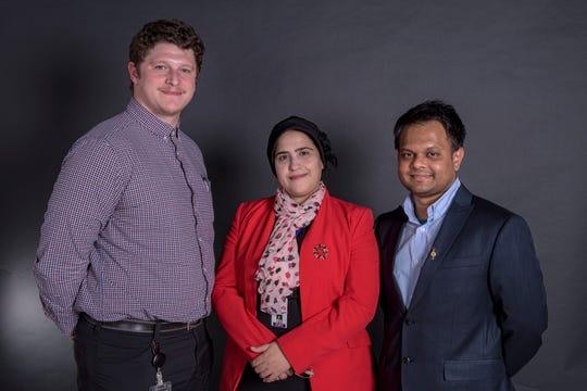 Pictured left to right: Matthew Scott, Ph.D.; Mabruka Alfaidi, Ph.D.; and Chowdhury Abdullah, Ph.D. (AHA Fellows at LSU Health Shreveport)