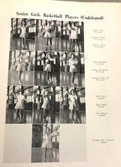 The members of the 1953-54 Wilson girls basketball team pictured in the school's yearbook.