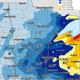 Snowfall predictions for Monday