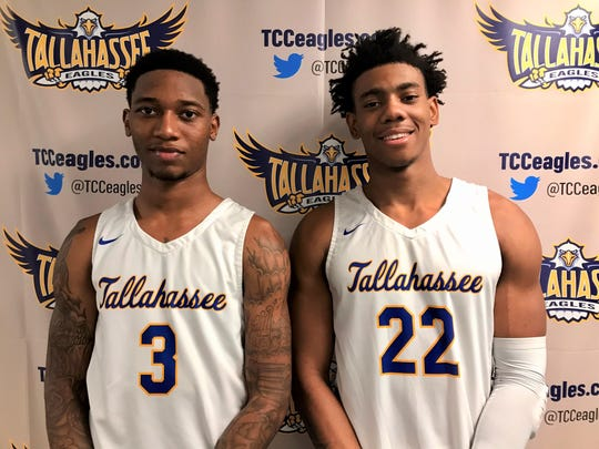 Guards El Ellis (3) and DeAndre Gholston are leading the charge for TCC this season.