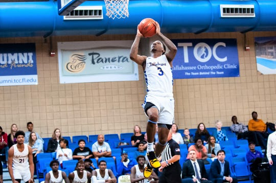 TCC freshman point guard El Ellis scored 12 points and handed out five assists in the 86-75 win versus Monroe College in the Tallahassee Democrat Holiday Classic on Dec. 28, 2019.