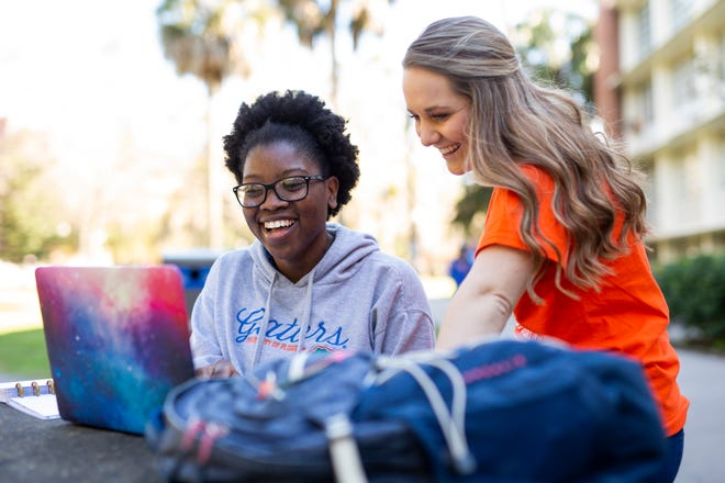 Students explore options for majors and careers at the University of Florida.