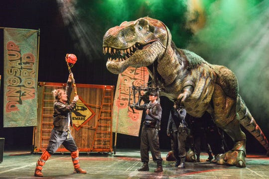 Dinosaur World Live: A Dino Mite Adventure arrives on the Sunrise Theatre stage Sunday, February 23 at 3pm.