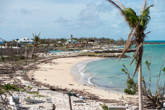 Damage is widespread across Marsh Harbour, Bahamas, on Saturday, Dec. 21, 2019, following Hurricane Dorian's direct hit in September.
