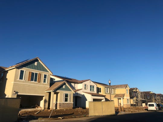 These homes were under construction at Harvest at Limoneira in December 2019. The Santa Paula development will eventually have 1,500 new housing units.