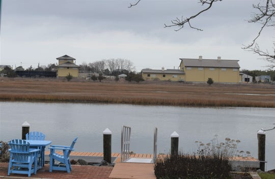 The Lewes wastewater treatment plant, as seen from across the Lewes-Rehoboth Canal.