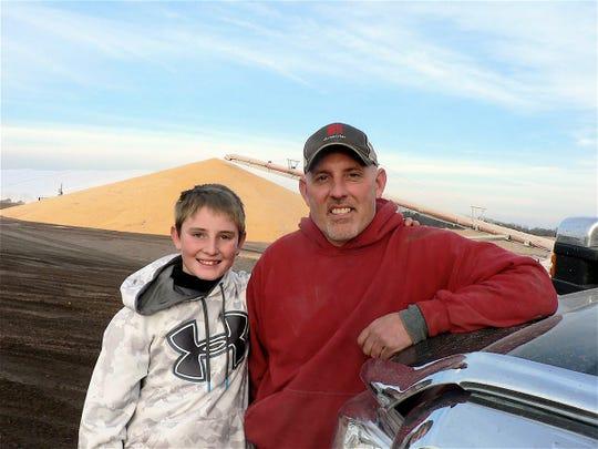 Kevin Klahn and his son Gabe.