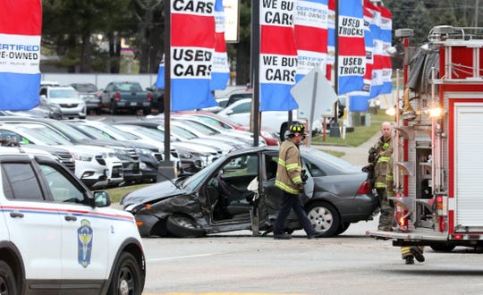 A wreck on Maple Avenue by Jeff Drennen Dealerships snarled traffic Monday afternoon. One driver in the two-vehicle wreck was taken to the hospital with non-life threatening injuries.