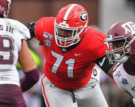 4. Giants - Andrew Thomas, OT, Georgia