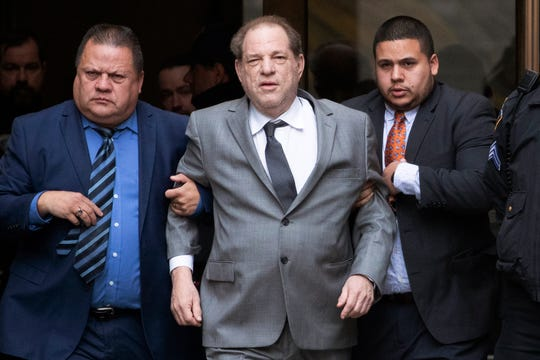 Harvey Weinstein leaving court following a bail hearing in New York on Dec. 6, 2019.