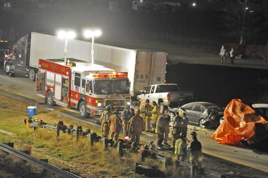 A wreck on I-26 killed five people on Oct. 24, 2010.
