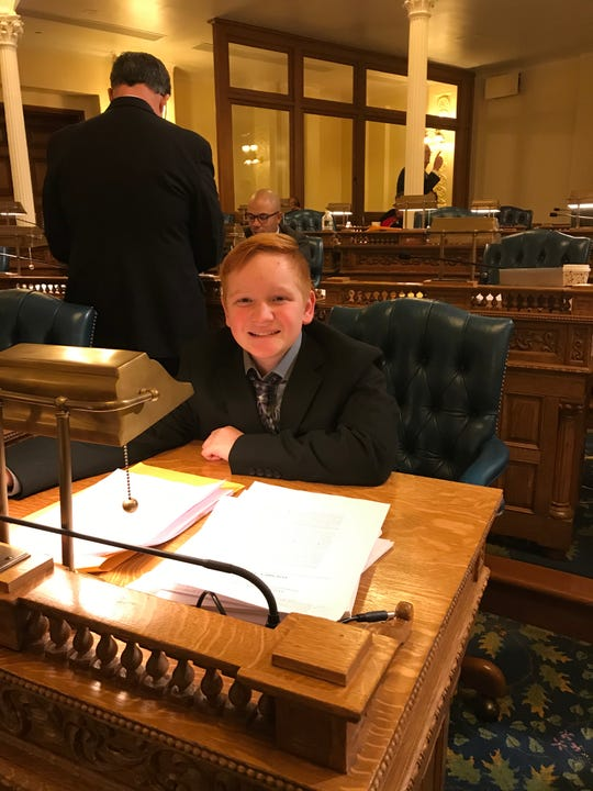 Paul St. Pierre, 13, of Maple Shade went to the New Jersey State House in Trenton to witness the vote for Paul's Law legislation. The bill, which passed unanimously in both houses, mandates seizure safety training for school personnel.
