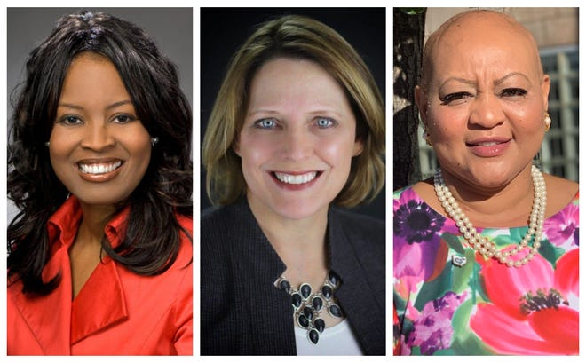 Alicia Reece, left, Connie Pillich and Kelli Prather will face each other in the 2020 Democratic primary for Hamilton County commissioner.