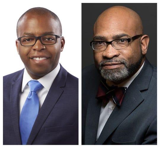 Gabe Davis, left, and Fanon Rucker are running in the 2020 Democratic primary for Hamilton County prosecutor.