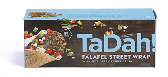 Tadah Falafel Wraps make a healthy snack.
