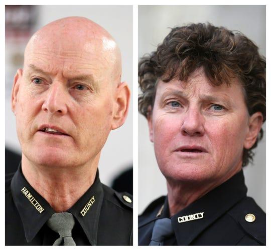 Hamilton County Sheriff Jim Neil faces Charmaine McGuffey in the 2020 Democratic primary.