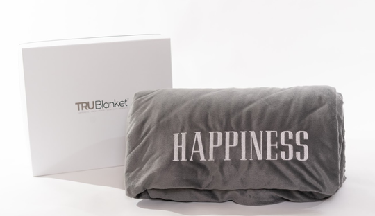 Trublanket makes you feel like you are getting a full body hug which can help you sleep.