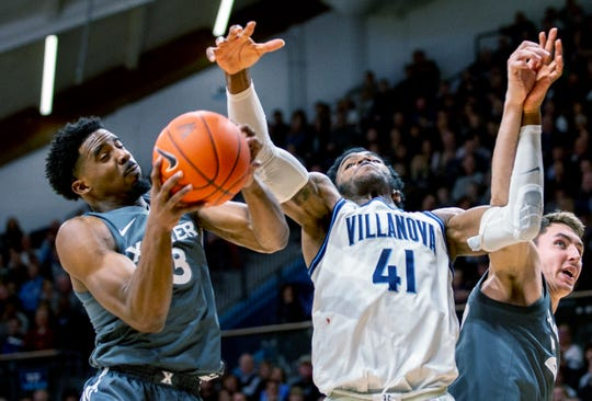 Villanova's sophomore forward, Saddiq Bey could be a second round pick in the 2020 NBA Draft.  (Photo: Laurence Kesterson/The Associated Press, via The Cincinnati Enquirer.)
