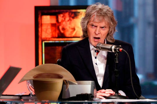 "Don Imus appears on his last ""Imus in the Morning"" program, on the Fox Business Network, in New York."