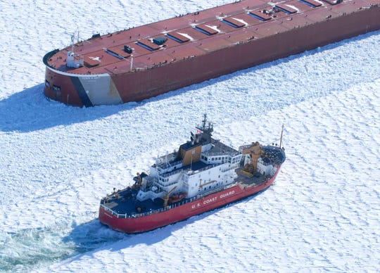 Higher water levels recently in the Great Lakes create greater ice hazards for ships during the winter while the aging fleet of icebreakers has dwindled in numbers