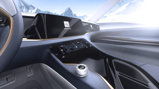 The Airflow Vision concept is a sleek vehiclebased on the plug-in hybrid Chrysler Pacifica minivan focused on user experience that offers multiple and customizable display screens that also can share information.