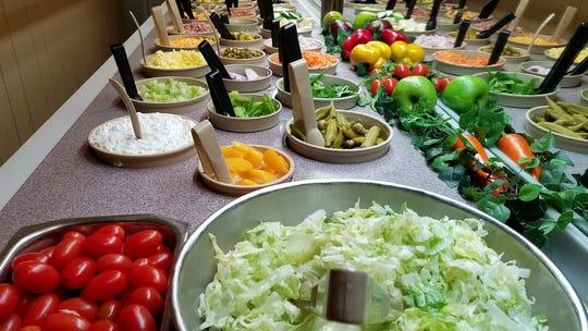 Western Ribeye and Ribs salad bar